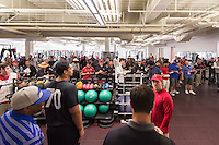 STANFORD, CA - March 19, 2015:  Stanford Football Pro Timing Day