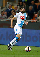 Raul Albiol  during the  italian serie a soccer match,between Inter FC  and SSC Napoli      at  the San Siro   stadium in Milan  Italy , April  30, 2017