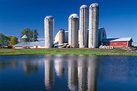 Dairy farm near Cornell<br /> Highway 64<br /> Chippewa County<br /> Wisconsin