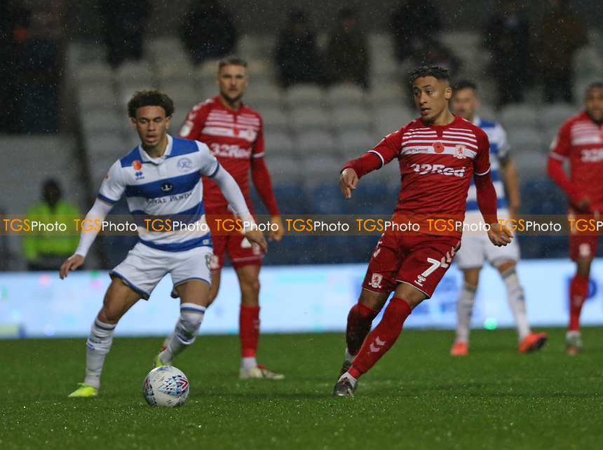 Marcus Tavernier of Middlesbrough during Queens Park Rangers vs Middlesbrough, Sky Bet EFL Championship Football at Loftus Road Stadium on 9th November 2019