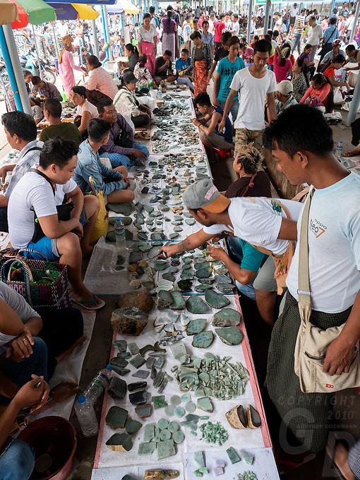 The Jade Market in Mandalay, Myanmar, Burma