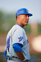 South Bend Cubs manager Jimmy Gonzalez (44) during a game against the Kane County Cougars on July 23, 2018 at Northwestern Medicine Field in Geneva, Illinois.  Kane County defeated South Bend 8-5.  (Mike Janes/Four Seam Images)