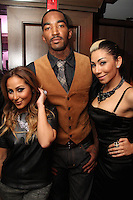 NEW YORK, NY - SEPTEMBER 26:..Adrienne Bailon, J.R. Smith & Bridget Kelly attend the NBA 2K13 Premeire at 40/40.....© Walik Goshorn / Retna Ltd. /MediaPunch Inc. /NortePhoto