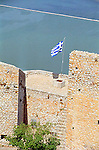 Palamidi fortress castle citadel in Nafplion on the Peloponnese Greece Europe