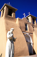 USA, New Mexico, Ranchos de Taos. Church of Saint Francis of Assisi built in 1730
