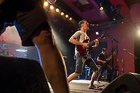 Die Hardcore Punkband Propagandhi aus Winipeg/Kanada spielte am Sonntag den 4. November 2018 im Berliner Club Astra.<br /> 4.11.2018, Berlin<br /> Copyright: Christian-Ditsch.de<br /> [Inhaltsveraendernde Manipulation des Fotos nur nach ausdruecklicher Genehmigung des Fotografen. Vereinbarungen ueber Abtretung von Persoenlichkeitsrechten/Model Release der abgebildeten Person/Personen liegen nicht vor. NO MODEL RELEASE! Nur fuer Redaktionelle Zwecke. Don't publish without copyright Christian-Ditsch.de, Veroeffentlichung nur mit Fotografennennung, sowie gegen Honorar, MwSt. und Beleg. Konto: I N G - D i B a, IBAN DE58500105175400192269, BIC INGDDEFFXXX, Kontakt: post@christian-ditsch.de<br /> Bei der Bearbeitung der Dateiinformationen darf die Urheberkennzeichnung in den EXIF- und  IPTC-Daten nicht entfernt werden, diese sind in digitalen Medien nach §95c UrhG rechtlich geschuetzt. Der Urhebervermerk wird gemaess §13 UrhG verlangt.]
