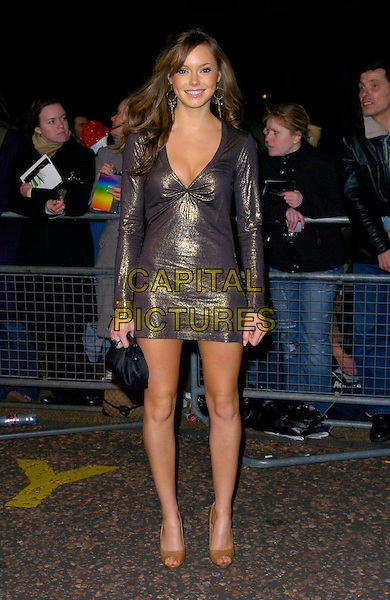 "GUEST.Arrives at ""An Audience With Take That"".at The London Television Studios,.London, England, December 2nd 2006..full length gold metallic dress.CAP/CAN.©Can Nguyen/Capital Pictures"