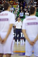 Spain's coach ORENGA, Juan during 2014 FIBA Basketball World Cup Group Phase-Group A, match Serbia vs Spain. Palacio  Deportes of Granada. September 4,2014. (ALTERPHOTOS/Raul Perez)