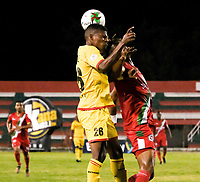 TULUA - COLOMBIA, 16-02-2020: Cortuluá y Bogotá F.C. en partido por la fecha 3 como parte del Torneo BetPlay DIMAYOR I 2020 jugado en el estadio 12 de Octubre de Tuluá. / Cortulua and Bogota F.C. in matdch for the date 3 as part of BetPlay DIMAYOR Tournament I 2020 played at 12 de Octubre stadium in Tulua. Photo: VizzorImage / Juan Jose Horta / Cont