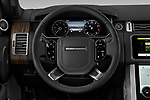 Car pictures of steering wheel view of a 2019 Land Rover Range-Rover HSE 5 Door SUV Steering Wheel