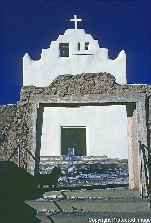 Laguna: Laguna Mission, circa 1700. New Mexico. Photo '77.