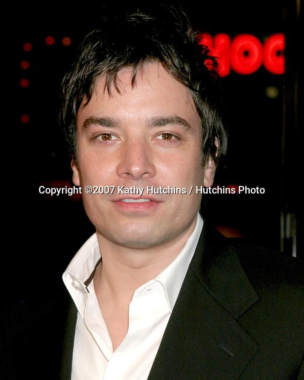 "Jimmy Fallon.""Music & Lyrics"" Premiere.Mann's Grauman Theater.Los Angeles, CA.February 7, 2007.©2007 Kathy Hutchins / Hutchins Photo."