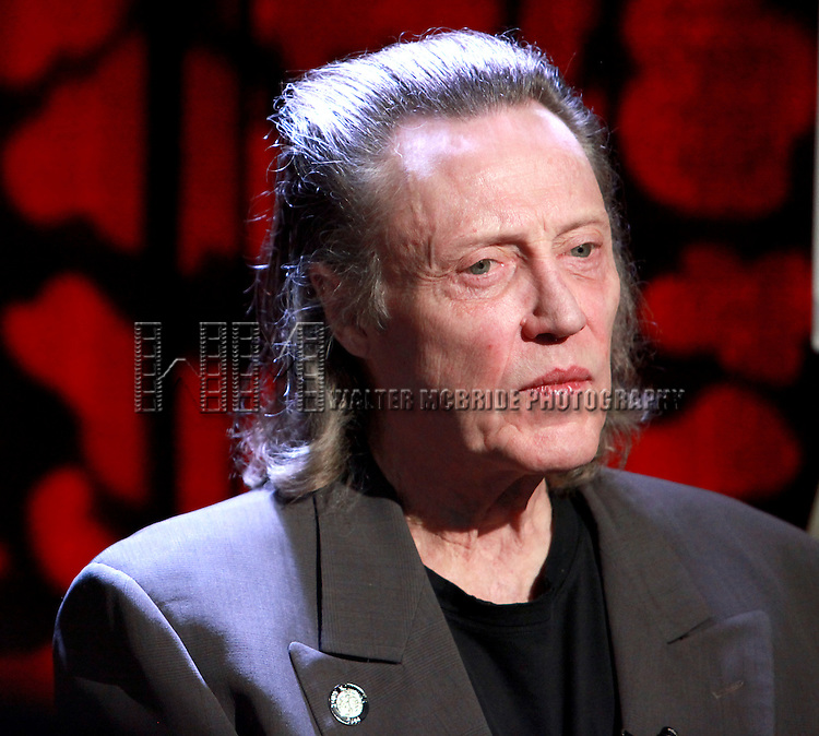 "Christopher Walken pictured at the 2010 Tony Award Nominees ""Meet the Nominees Press Reception"" at the Millennium Broadway Hotel in New York City on May 5, 2010."
