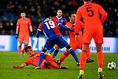 31st October 2017, St Jakob-Park, Basel, Switzerland; UEFA Champions League, FC Basel versus CSKA Moscow; Dimitri Oberlin of FC Basel challenges Konstantin Kuchaev of CSKA Moscow for the ball