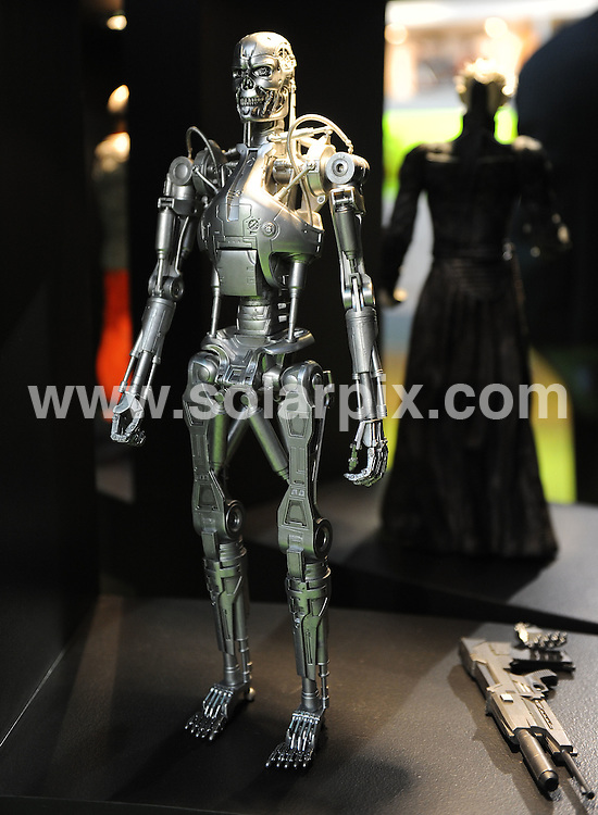**ALL ROUND PICTURES FROM SOLARPIX.COM**.**WORLDWIDE SYNDICATION RIGHTS**.Toy Fair 2010. Held at Olympia, London, UK. 26 January 2010..This pic: Terminator figure..JOB REF: 10552 SSD     DATE: 26_01_2010.**MUST CREDIT SOLARPIX.COM OR DOUBLE FEE WILL BE CHARGED**.**MUST NOTIFY SOLARPIX OF ONLINE USAGE**.**CALL US ON: +34 952 811 768 or LOW RATE FROM UK 0844 617 7637**