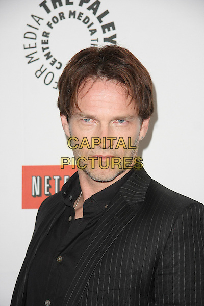 "STEPHEN MOYER .""True Blood"" at PaleyFest 2011  Held at The Saban Theater, Beverly Hills, California, USA, 5th March 2011..portrait headshot black gray grey pinstripe .CAP/ADM/TB.©Tommaso Boddi/AdMedia/Capital Pictures."