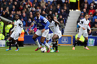 Pictured: Wilfried Bony of Swansea. Saturday 22 March 2014<br /> Re: Barclay's Premier League, Everton v Swansea City FC at Goodison Park, Liverpool, UK.
