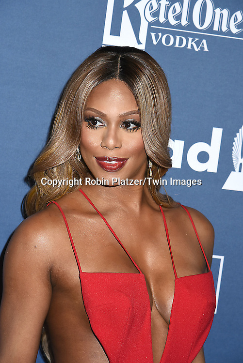 Laverne Cox in Michael D attends the 27th Annual GLAAD Media Awards on May 14, 2016 at the Waldorf Astoria Hotel in New York City, New York, USA.<br /> <br /> photo by Robin Platzer/Twin Images<br />  <br /> phone number 212-935-0770