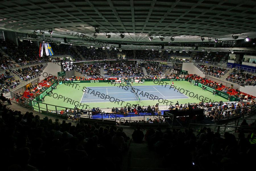 Hala Cair,  Davis Cup, World Group, 1st Round, Serbia - Sweden, Janko Tipsarevic (SRB) - Filip Prpic (SWE), Nis, Serbia, Friday, February 10, 2011.  (photo: Pedja Milosavljevic / thepedja@gmail.com / +381641260959)