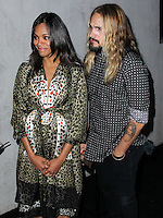 WEST HOLLYWOOD, CA, USA - AUGUST 21: Pregnant Actress Zoe Saldana and husband Marco Perego arrive at the Audi Emmy Week Celebration held at Cecconi's Restaurant on August 21, 2014 in West Hollywood, California, United States. (Photo by Xavier Collin/Celebrity Monitor)
