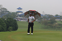 SSP Chawrasia (Asia) on the 1st green during the Saturday Foursomes of the Eurasia Cup at Glenmarie Golf and Country Club on the 13th January 2018.<br /> Picture:  Thos Caffrey / www.golffile.ie