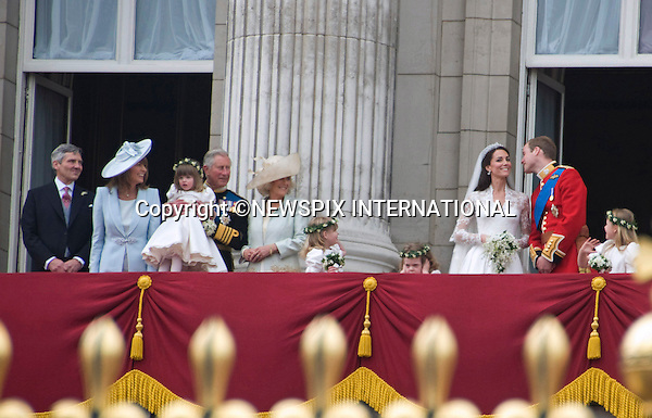 "PRINCE WILLIAM AND CATHERINE MIDDLETON .make an appearance on the balcony of Buckingham Palace, London_29/04/2011.Mandatory Photo Credit: ©Shaw/Newspix International..**ALL FEES PAYABLE  TO: ""NEWSPIX INTERNATIONAL""**..PHOTO CREDIT MANDATORY!!: NEWSPIX INTERNATIONAL(Failure to credit will incur a surcharge of 100% of reproduction fees)..IMMEDIATE CONFIRMATION OF USAGE REQUIRED:.Newspix International, 31 Chinnery Hill, Bishop's Stortford, ENGLAND CM23 3PS.Tel:+441279 324672  ; Fax: +441279656877.Mobile:  0777568 1153.e-mail: info@newspixinternational.co.uk"