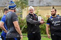 Bath Director of Rugby Todd Blackadder speaks to his players. Bath Rugby pre-season training session on July 28, 2017 at Farleigh House in Bath, England. Photo by: Patrick Khachfe / Onside Images