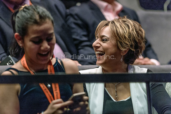 New Mayor of London Sadiq Khan's wife Saadia, in the gallery  for the Mayor of London election results announcement in London's City Hall, May 06, 2016. Photo by Andre Camara<br /> CAP/CAM<br /> &copy;CAM/Capital Pictures /MediaPunch ***NORTH AMERICAN AND SOUTH AMERICAN SALES ONLY***