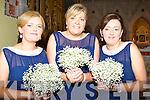 Bridesmaids at Linda Sheridan and Richard Long wedding in Balloonagh Convent Chapel Tralee on Saturday 28th December 2013 Joan Sheridan, Bridget Long and Margaret Donovan.