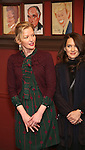 Gretchen Mol, Winona Ryder attend the unveiling of the Kenneth Lonergan caricature at Sardi's on February 17, 2017 in New York City.