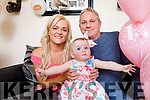 Little baby Ella Courtney, who weighed just over one pound when she was born celebrates her first birthday with parents Leanne Brennan and Patrick Courtney.