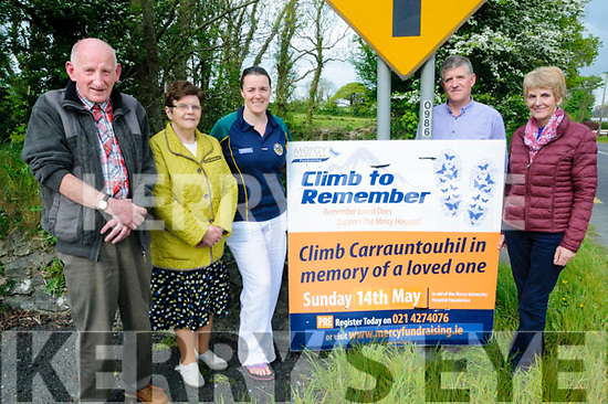 Climb Carrauntouhill in memory of loved one 1th May<br /> L- R : Patrick |Moore,Maura Grgg, Betty O'Sulliovan Halpin, Patsy Mulvihill &amp; Margaret Madigan.