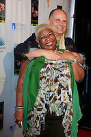 """MALIBU - OCT 21: Luenell, Brian Edwards at the """"Enter Miss Thang"""" Book Launch Party at Cafe Habana on October 21, 2013 in Malibu, California"""