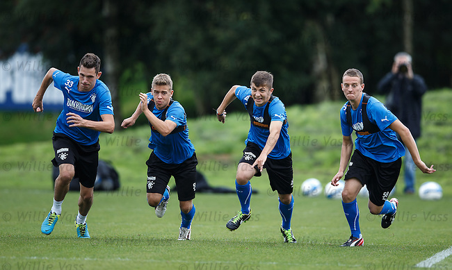 Kyle McAusland, Andy Murdoch, Charlie Telfer and Tom Walsh