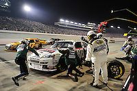 May 2, 2009; Richmond, VA, USA; NASCAR Sprint Cup Series driver Dale Earnhardt Jr pits during the Russ Friedman 400 at the Richmond International Raceway. Mandatory Credit: Mark J. Rebilas-