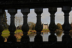 26/11/2016.  Burghley Park,  United Kingdom. Autumnal view of Burghley House through the Lion Bridge in Burghley Park, Stamford, Lincolnshire. Jonathan Clarke / JPC Images