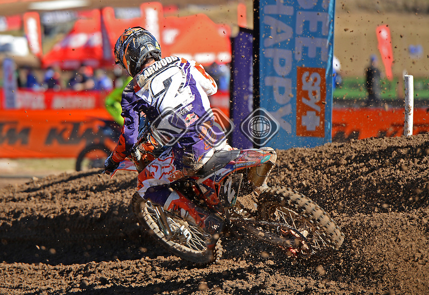 Hamish Harwood / KTM<br /> MX Nationals / Round 6 / MX2<br /> Australian Motocross Championships<br /> Raymond Terrace NSW<br /> Sunday 5 July 2015<br /> &copy; Sport the library / Jeff Crow