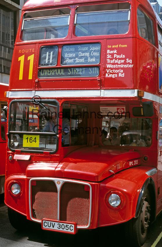 England, London: Doppeldecker-Bus | United Kingdom, London: double-decker bus