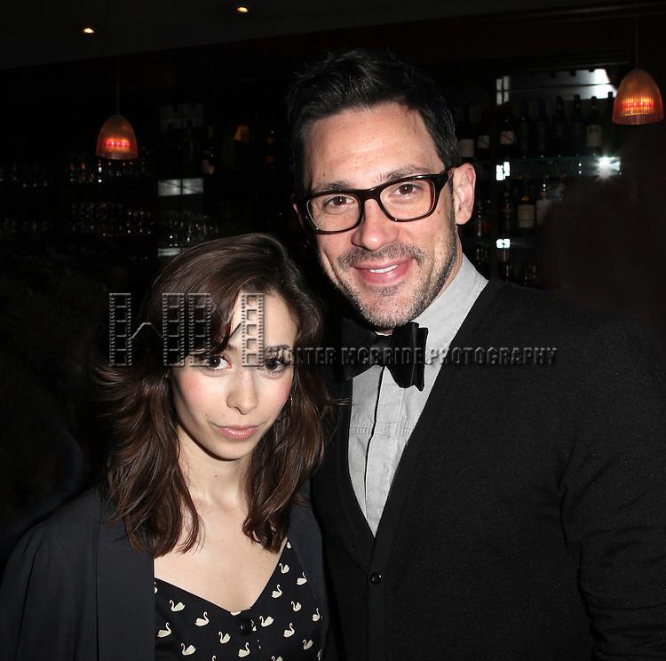 Cristin Milioti & Steve Kazee.attending the New York Drama Critics' Circle Awards at Angus McIndoe in New York City on 5/14/2012.