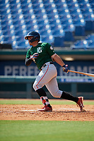 Gabriel Gutierrez (21) of Doral Academy Charter School in Miami, FL during the Perfect Game National Showcase at Hoover Metropolitan Stadium on June 20, 2020 in Hoover, Alabama. (Mike Janes/Four Seam Images)