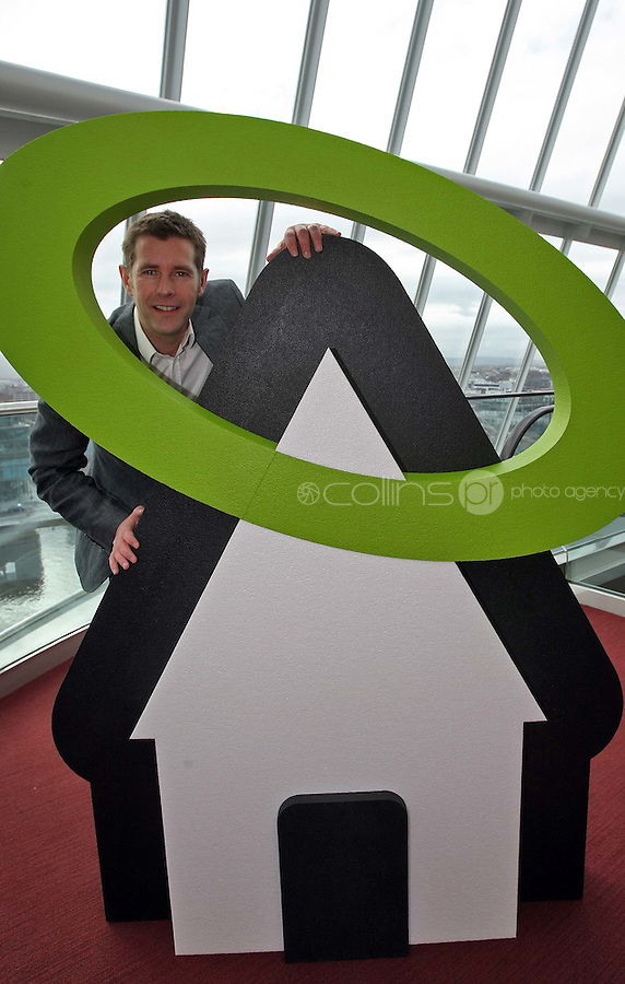 08/11/'10 **NO FEE FOR REPRODUCTION**Renowned architect and presenter of RTE's 'Room to Improve', Dermot Bannon,  pictured at the launch of the ESB HALO Service at the National Convention Centre this morning. ESB HALO is the new inovative, home energy efficiency service designed to meet the energy needs of homeowners throughout the country. HALO Installation Service is a total one-stop solution to home energy needs, from insulating your walls to solar panels on the roof. ESB HALO provides homeowners with the products and installation services they need to meximise savings and minimise their carbon footprint...Picture Colin Keegan, Collins, Dublin.