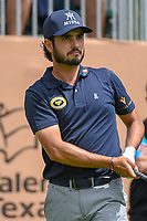Abraham Ancer (MEX) watches his tee shot on 1 during day 1 of the Valero Texas Open, at the TPC San Antonio Oaks Course, San Antonio, Texas, USA. 4/4/2019.<br /> Picture: Golffile | Ken Murray<br /> <br /> <br /> All photo usage must carry mandatory copyright credit (© Golffile | Ken Murray)