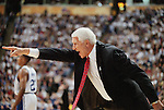 02 APR 2001:  University of Arizona head coach Lute Olson directs his team during the NCAA Men's Basketball Final Four Championship game held in Minneaplois, MN at the Hubert H. Humphrey Metrodome. Duke defeated Arizona 82-72 for the championship. Ryan McKee/NCAA Photos