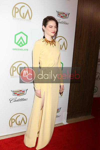 Emma Stone<br /> at the 2019 Producer's Guild Awards, Beverly Hilton Hotel, Beverly Hills, CA 01-19-19<br /> David Edwards/DailyCeleb.com 818-249-4998
