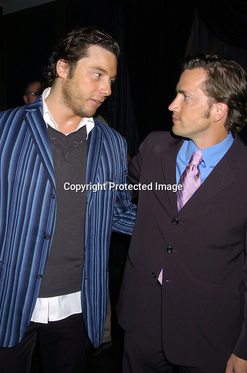 Rocco DiSpirito and Andrew Shue ..at The 2005 Do Something Brick Awards on April 19, 2005 at Capitale in New York City. ..Photo by Robin Platzer, Twin Images