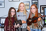 Caoimhe Murphy, Ava Lancaster and Lauren O'Connor who played at the Dan Murphy tribute Handed Down concert in Scartaglen on Saturday night