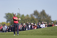 Ryan Moore (Team USA) on the 3rd Fairway bunker during the Friday afternoon Fourball at the Ryder Cup, Hazeltine national Golf Club, Chaska, Minnesota, USA.  30/09/2016<br /> Picture: Golffile | Fran Caffrey<br /> <br /> <br /> All photo usage must carry mandatory copyright credit (&copy; Golffile | Fran Caffrey)