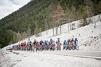 peloton leaving the Dolomites behind while racing towards Venice<br /> <br /> Stage 18: Valdaora/Olang to Santa Maria di Sala (222km)<br /> 102nd Giro d'Italia 2019<br /> <br /> ©kramon