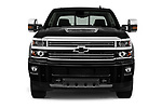 Car photography straight front view of a 2017 Chevrolet Silverado-2500Hd High-Country-Crew-LWB 4 Door Pickup Front View