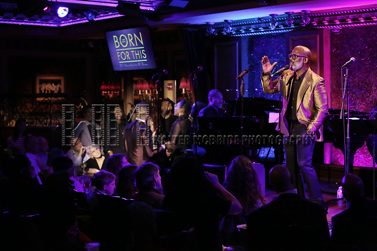 """BeBe Winans on stage during a Song preview performance of the BeBe Winans Broadway Bound Musical """"Born For This"""" at Feinstein's 54 Below on November 5, 2018 in New York City."""